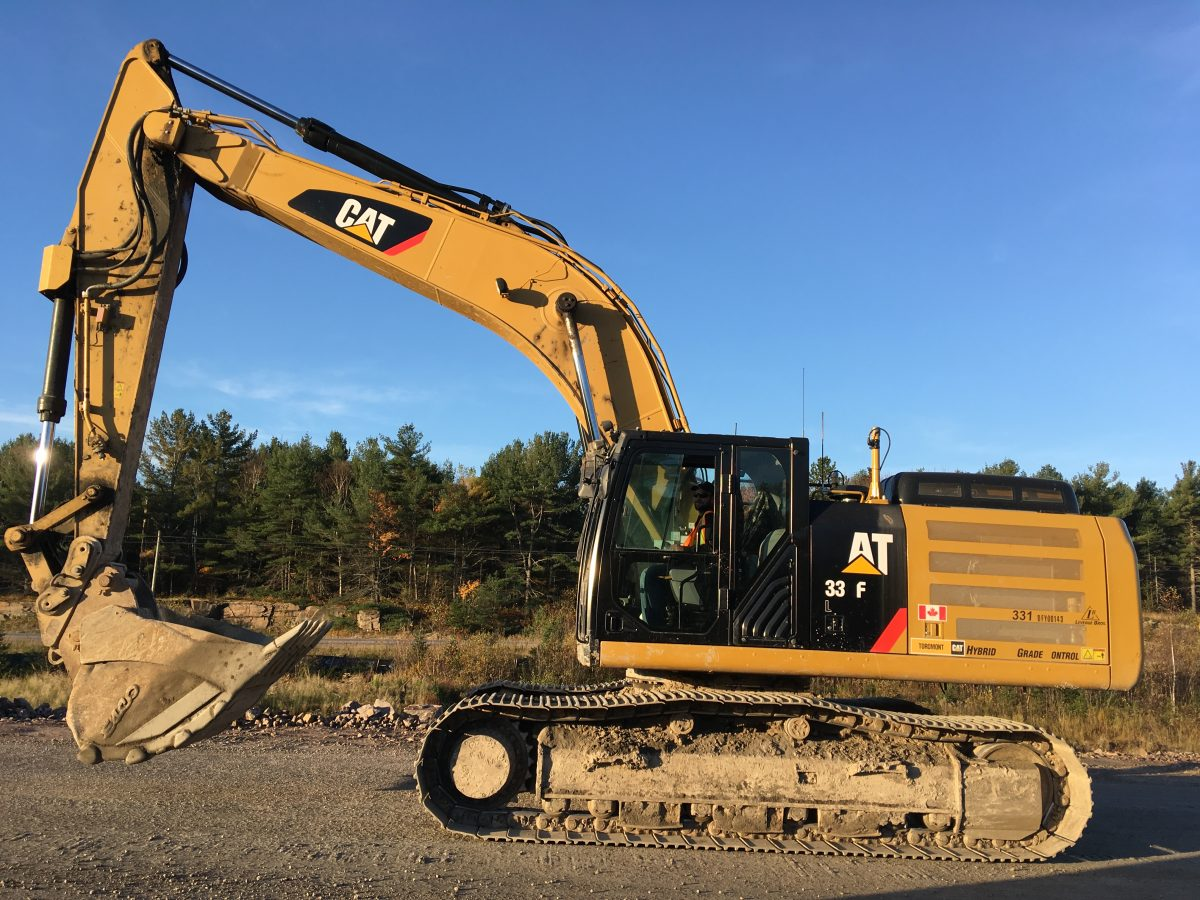 rental cat excavator available