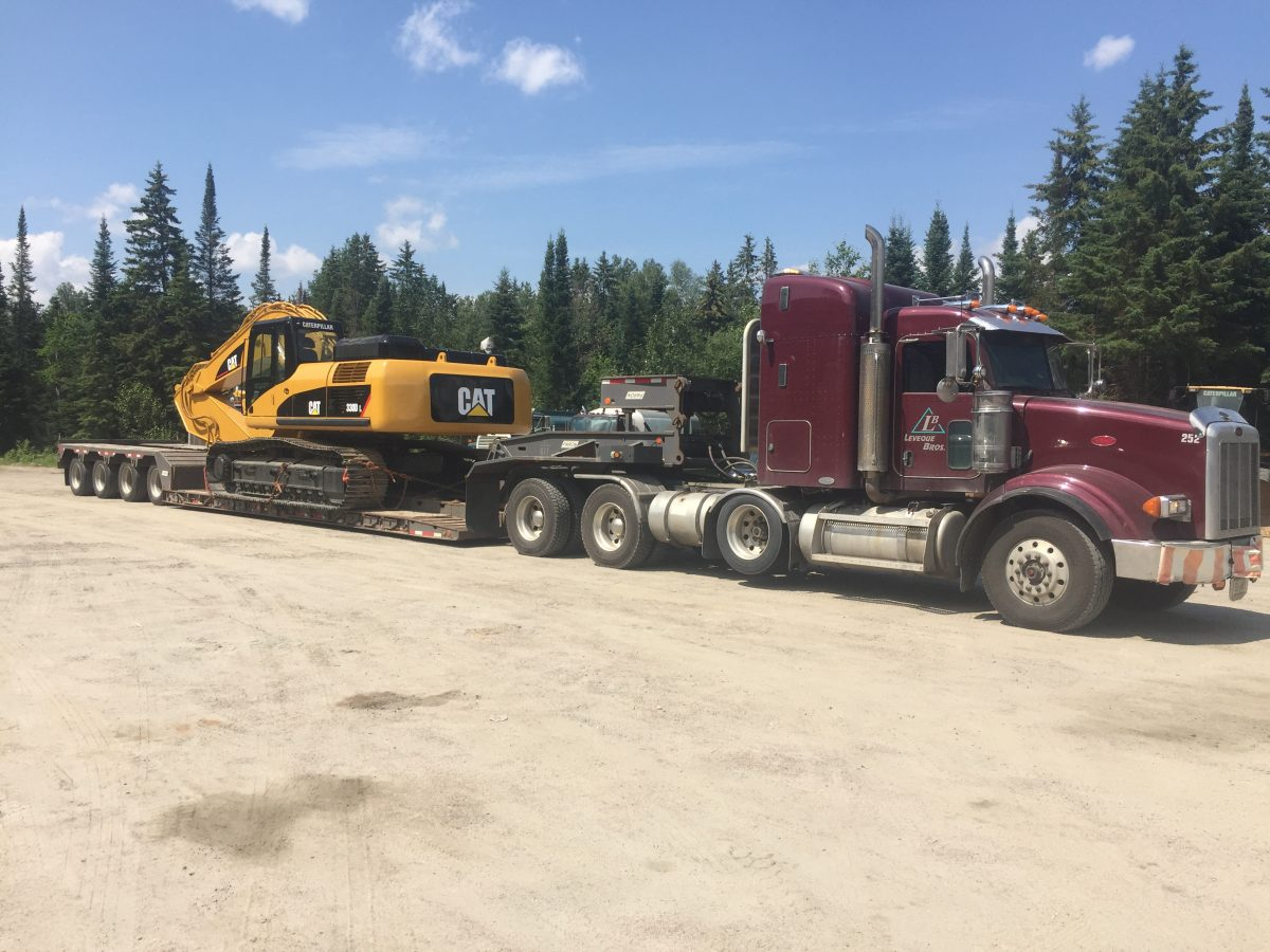 excavator rental at leveque bros